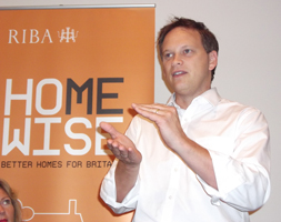 Housing Minister Grant Shapps MP speaks at a RIBA fringe event