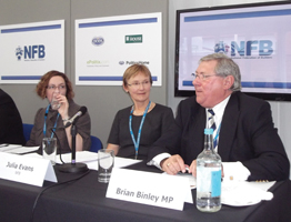 Tory MP Brian Binley talks about MIRAS at the NFB fringe event.